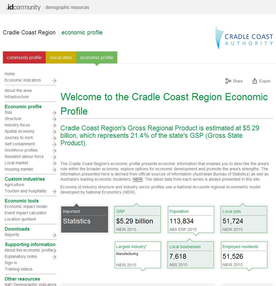 Cradle Coast Region