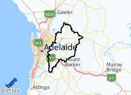 Adelaide Hills Council suburb boundaries