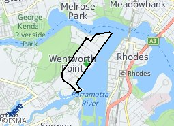 Location of Daw Park