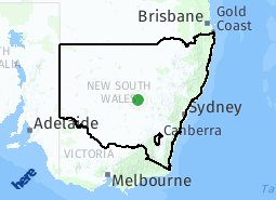 Location of New South Wales