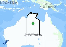 Location of Northern Territory