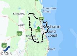 Greater Brisbane suburb map