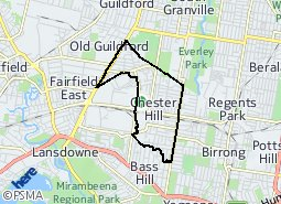 Location of Chester Hill