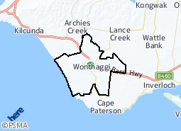 Location of Wonthaggi District