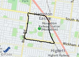 Location of Hampton East