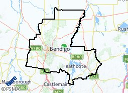 City of Greater Bendigo suburb map