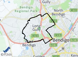 Long Gully West Bendigo Ironbark suburb map