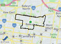 Location of Balwyn