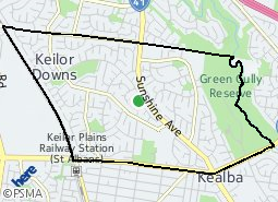 Location of Keilor Downs