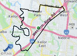 Location of Keilor Park and District