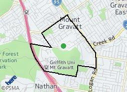 Location of Mount Gravatt