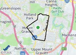 Location of Mount Gravatt East
