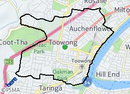 Location of Toowong