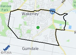 Location of Wakerley