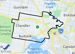 Location of Chandler - Capalaba West
