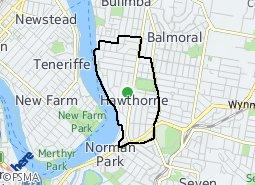 Location of Hawthorne