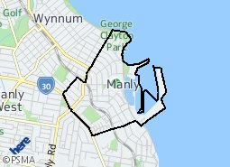 Location of Manly