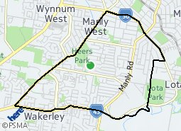 Location of Manly West