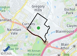 Location of Currans Hill