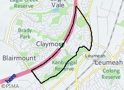 Location of Woodbine