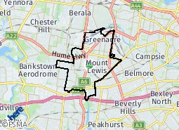 Location of Bankstown Ward