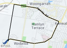 Location of Hamlyn Terrace
