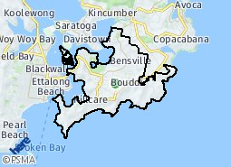 Location of Kincumber South - Bensville - Empire Bay - Killcare