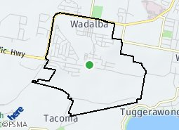 Location of Wadalba