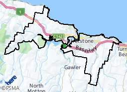 Location of Ulverstone Urban Area