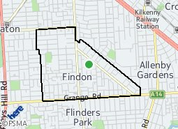 Location of Findon