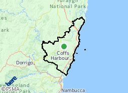 Coffs Harbour City suburb map