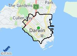 City of Darwin suburb map