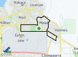 Location of Malak - Marrara