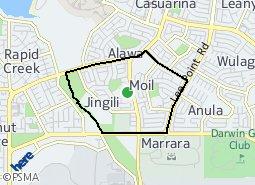 Location of Moil - Jingili