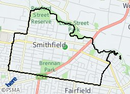 Location of Smithfield