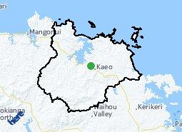 Location of Matauri Bay - Kaeo - Whangaroa