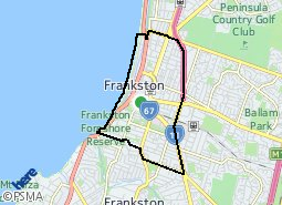 Location of Frankston Central