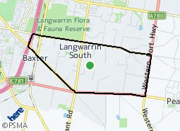 Location of Langwarrin South