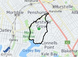 Location of Hurstville Grove