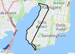 Location of Sans Souci