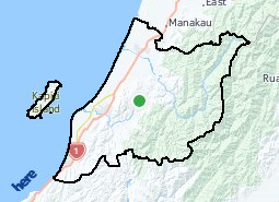 Location of Kāpiti Coast District