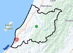 Location of Kāpiti Coast