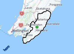 Location of Wairarapa Coast