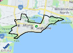 Location of Altona - Seaholme