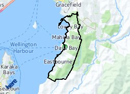 Location of Eastbourne