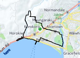 Location of Korokoro - Petone Central - Wilford