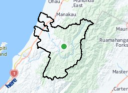 Location of Ōtaki Forks