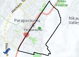 Location of Paraparaumu East