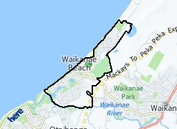 Location of Waikanae Beach