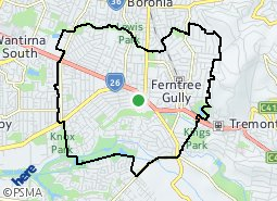 Location of Ferntree Gully
